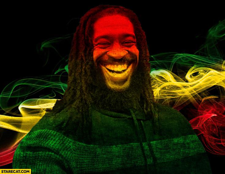 George Floyd Bob Marley rasta photoshopped meme