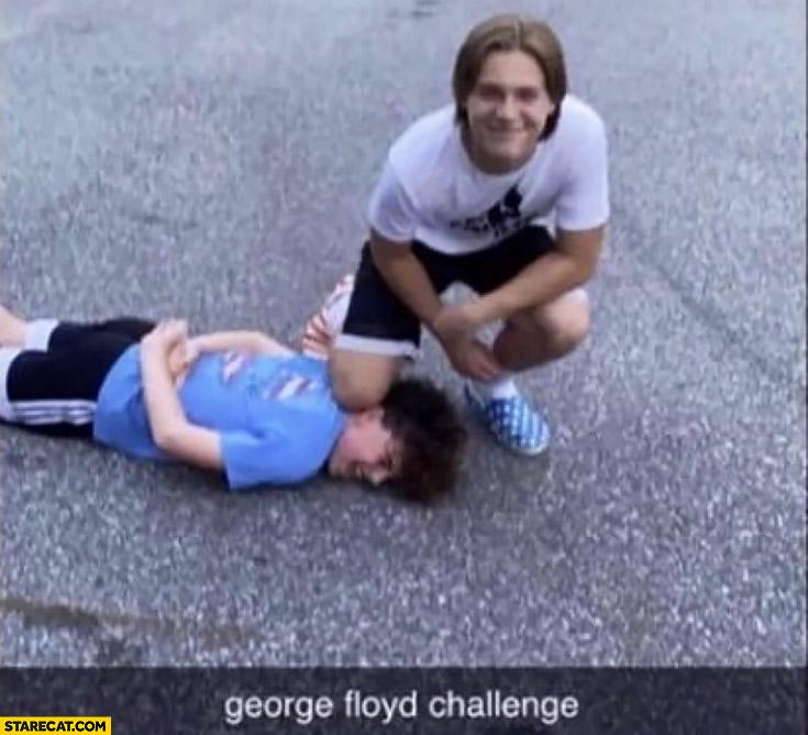 George Floyd challenge snapchat post posing like a policeman