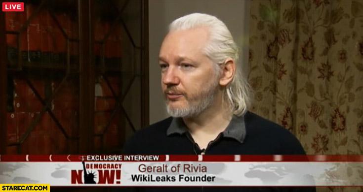 Geralt of Rivia wikileaks founder Julian Assange