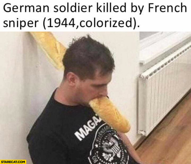 German soldier killed by French sniper 1944 colorized baguette
