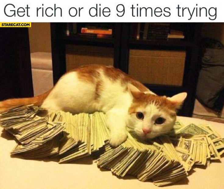 Get rich or die 9 times trying cat cash money