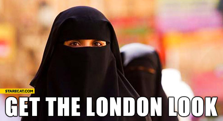 Get the London look muslim woman