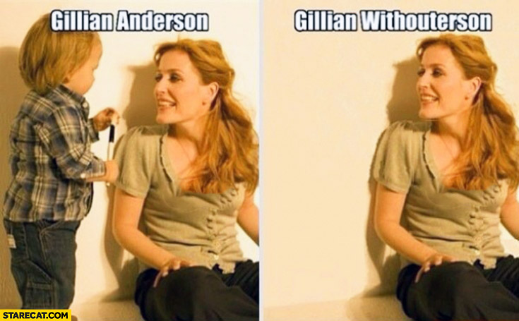 Gillian Anderson, Gillian Withoutherson