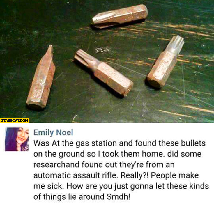 Girl found bullets at the gas station bolts fail