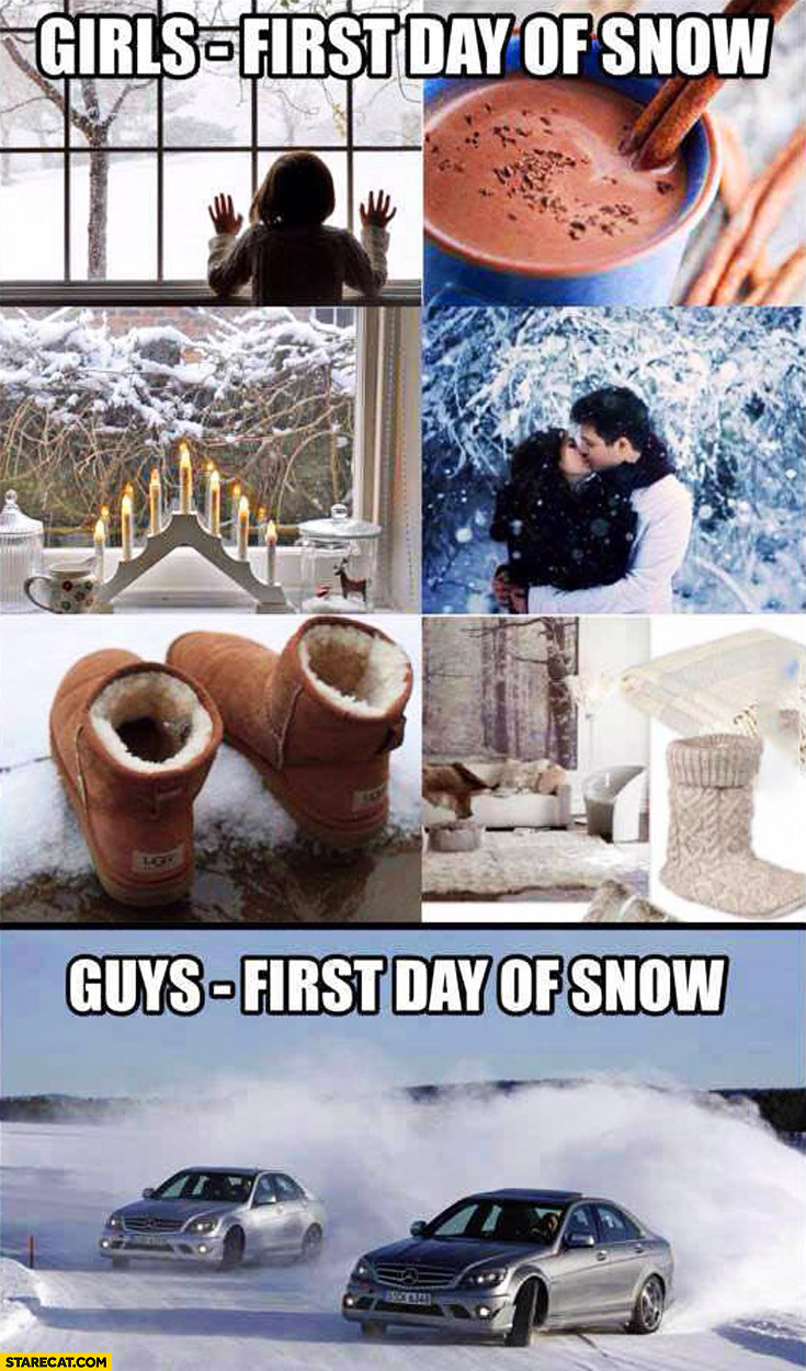 Girls first day of snow love guys first day of snow drifting