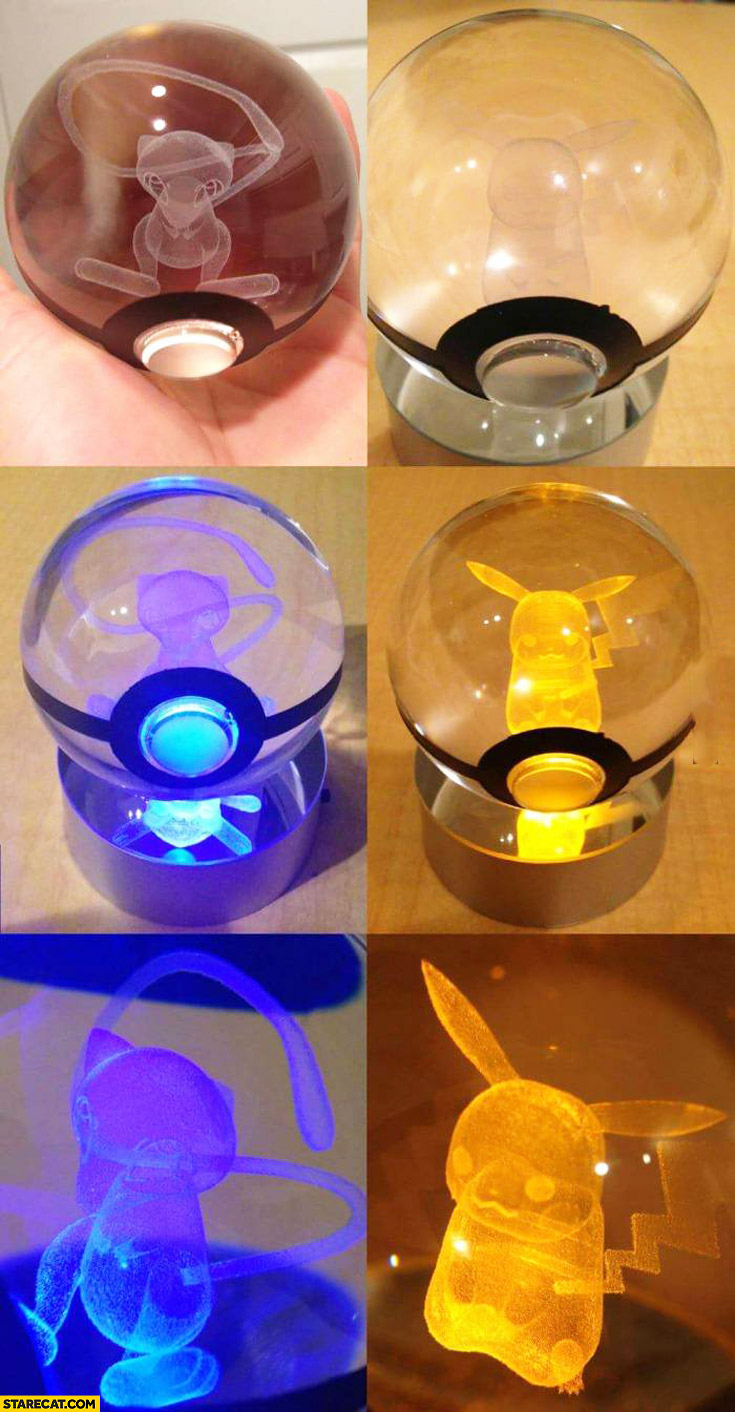 Glass Pokemon poke balls