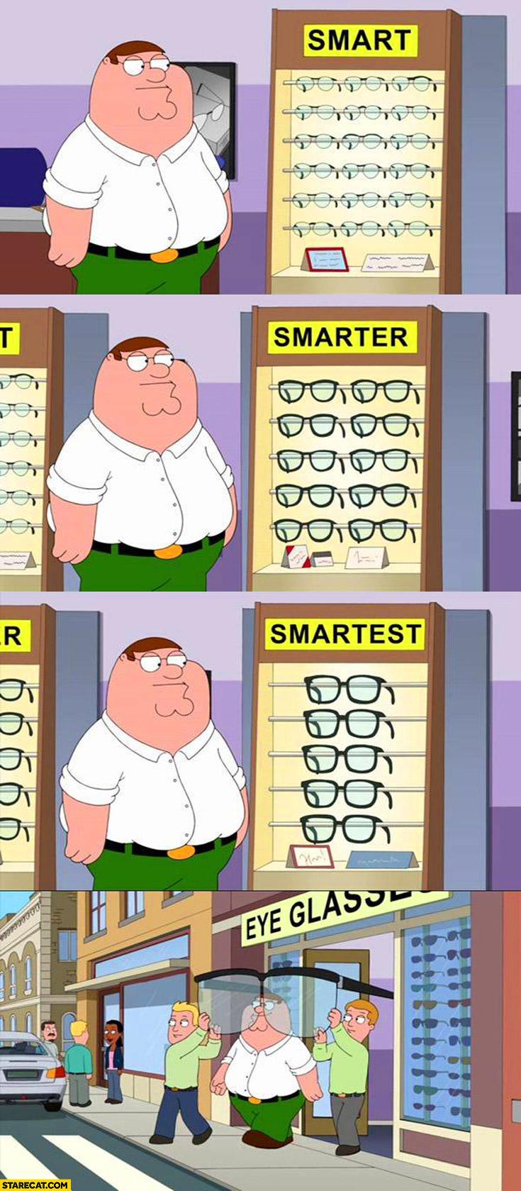Glasses smart smarter smartest huge glasses Family Guy