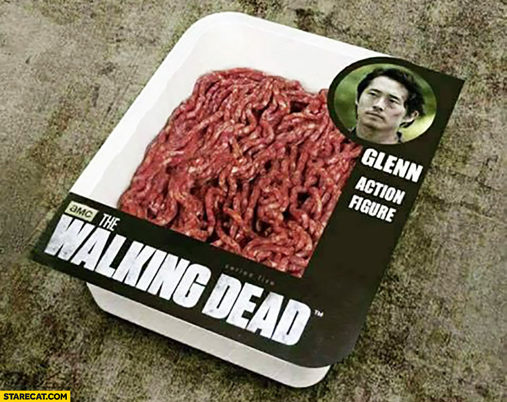 Glenn action figure meat The Walking Dead