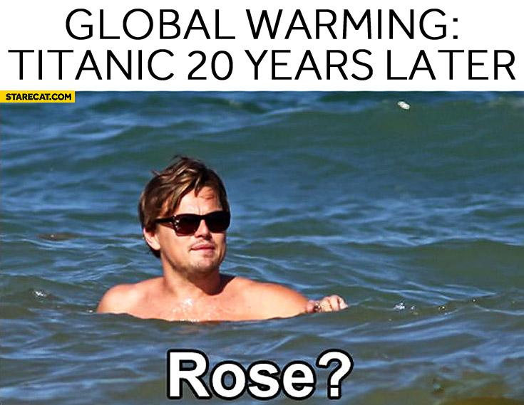 Global warming Titanic 20 years later