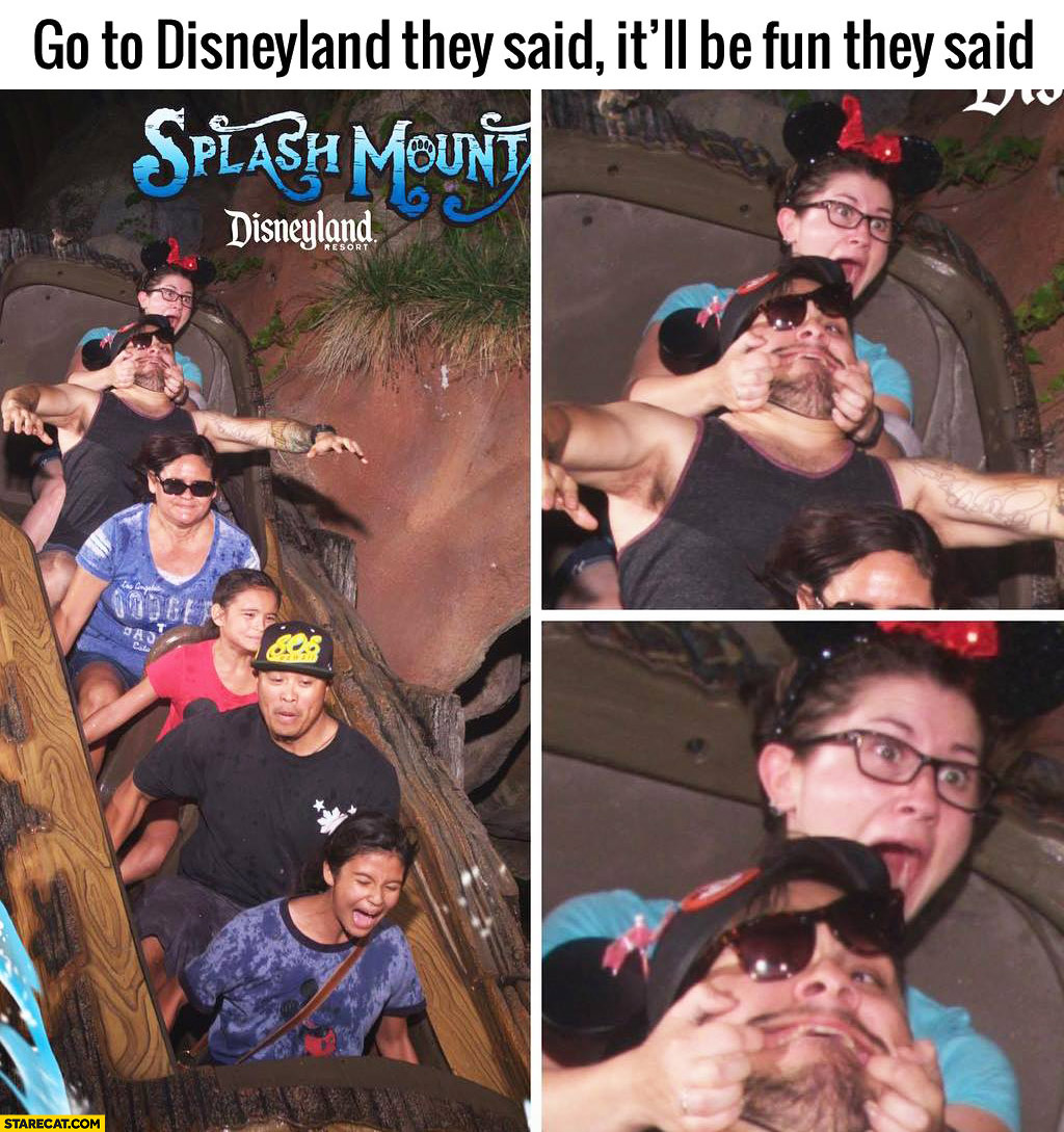 Go to Disneyland they said, it'll be fun they said woman panicked fail
