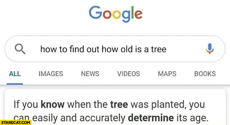 Google: how to find out how old is a tree? If you know then the tree was planted you can easily determine it's age