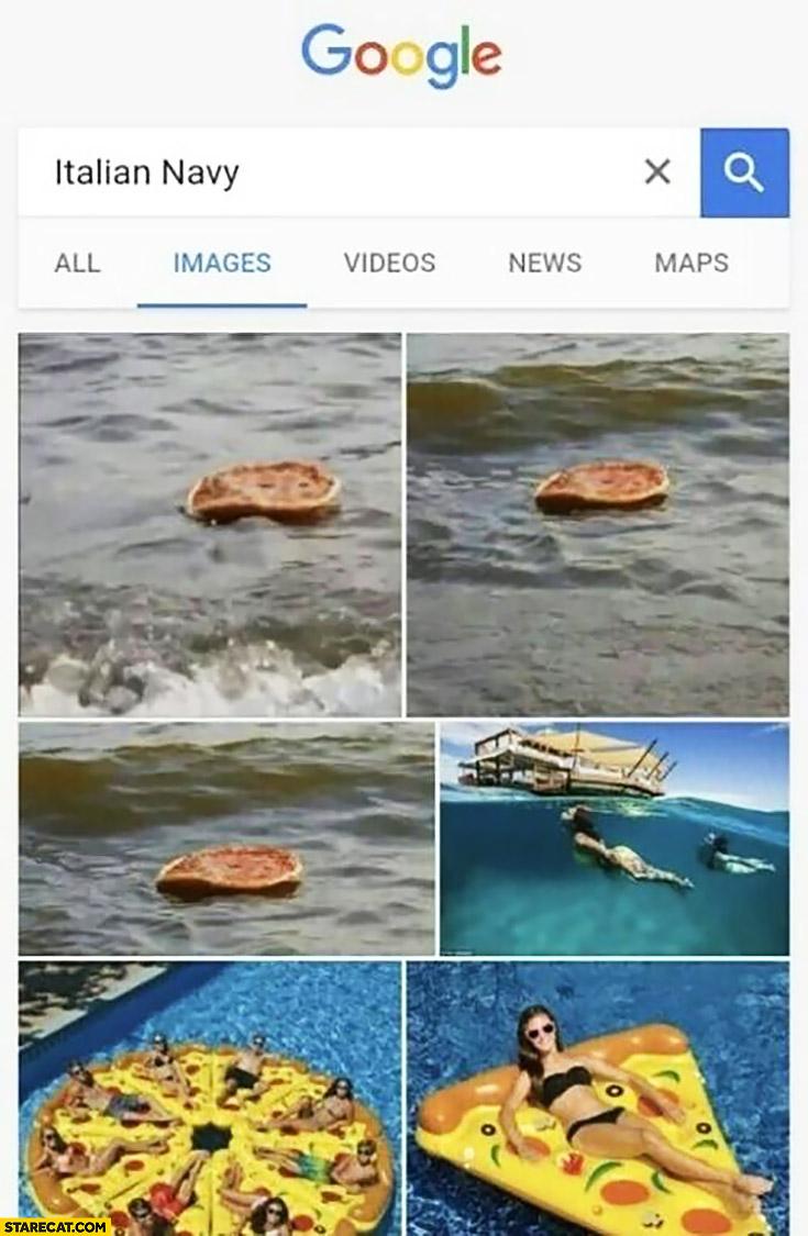 Googling Italian navy floating pizza