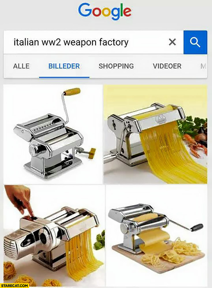 Googling Italian WW2 weapon factory pasta machine