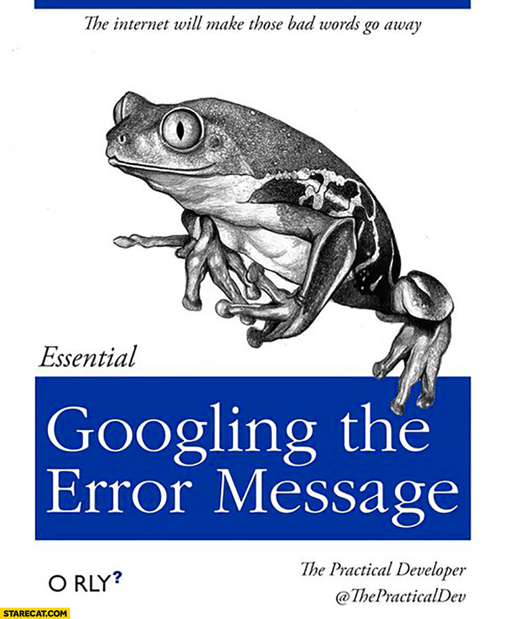 Googling the error message essential book orly