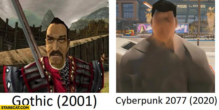 Gothic vs Cyberpunk graphics comparison