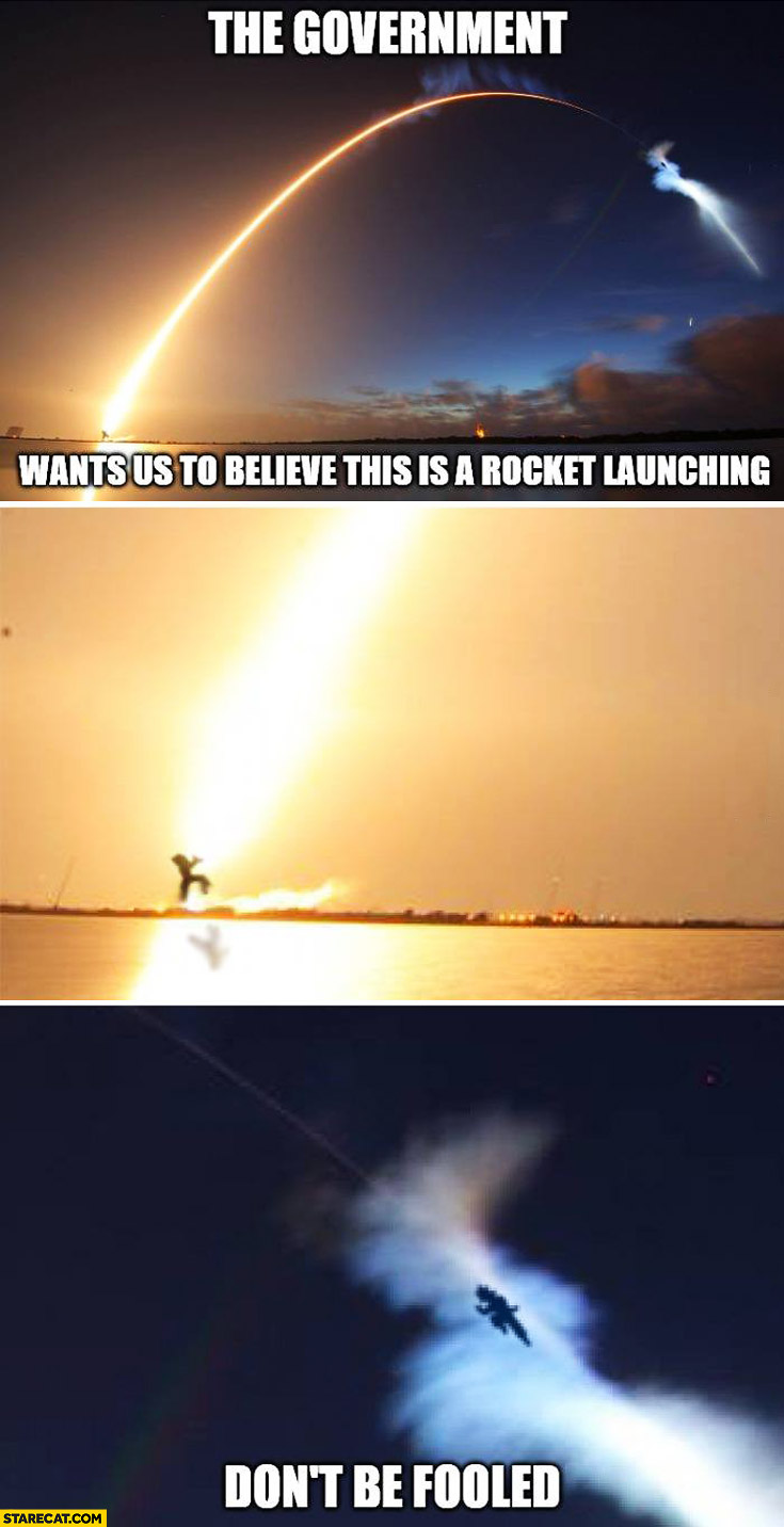 Government wants us to believe this is a rocket launching don't be fooled