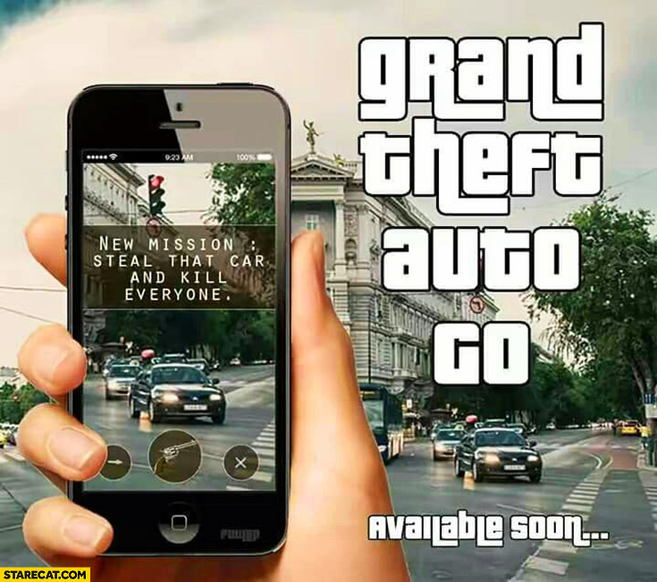 Grand Theft Auto GO new mission steal that car and kill everyone