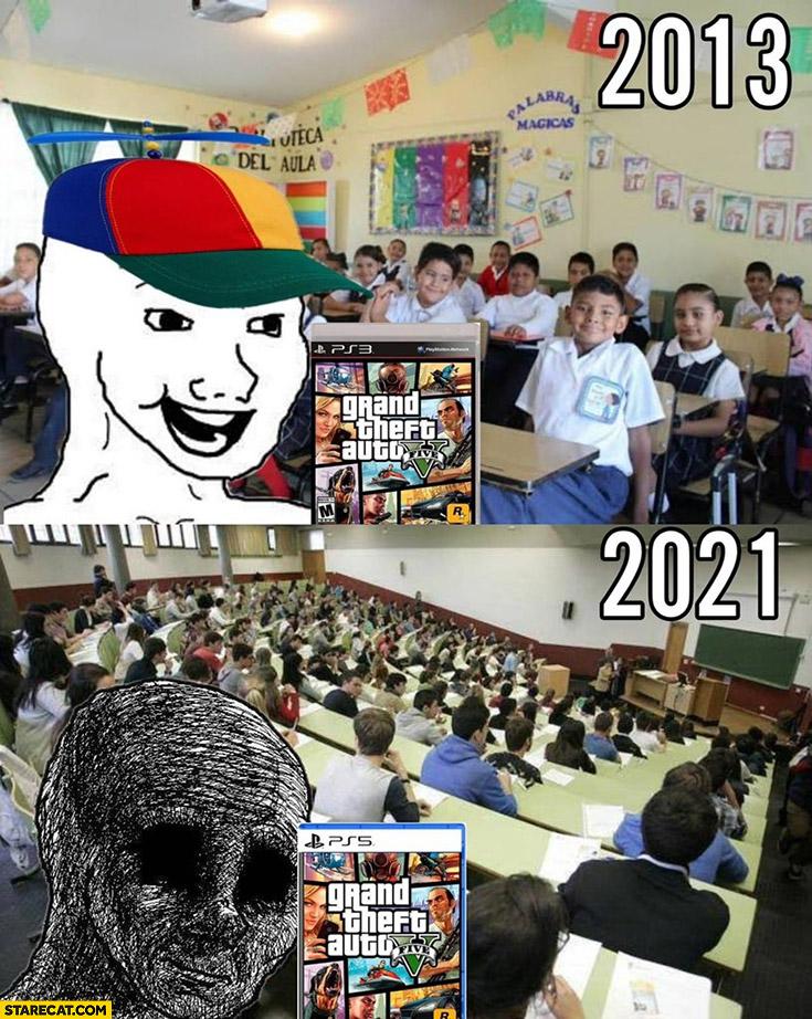 Grand Theft Auto v 2013 vs 2021 comparison no new edition