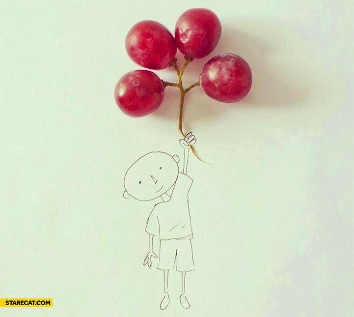 Grapes balloons