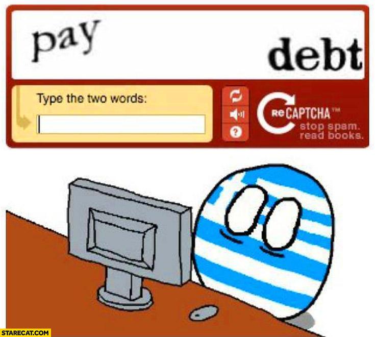 Greece pay debt captcha greeceball
