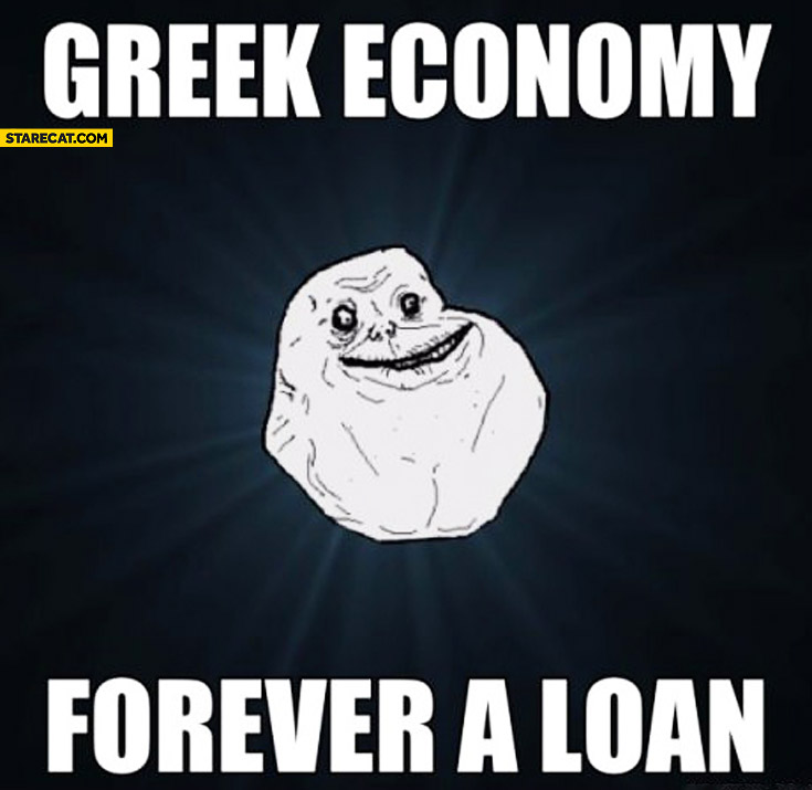 Greek economy forever a loan