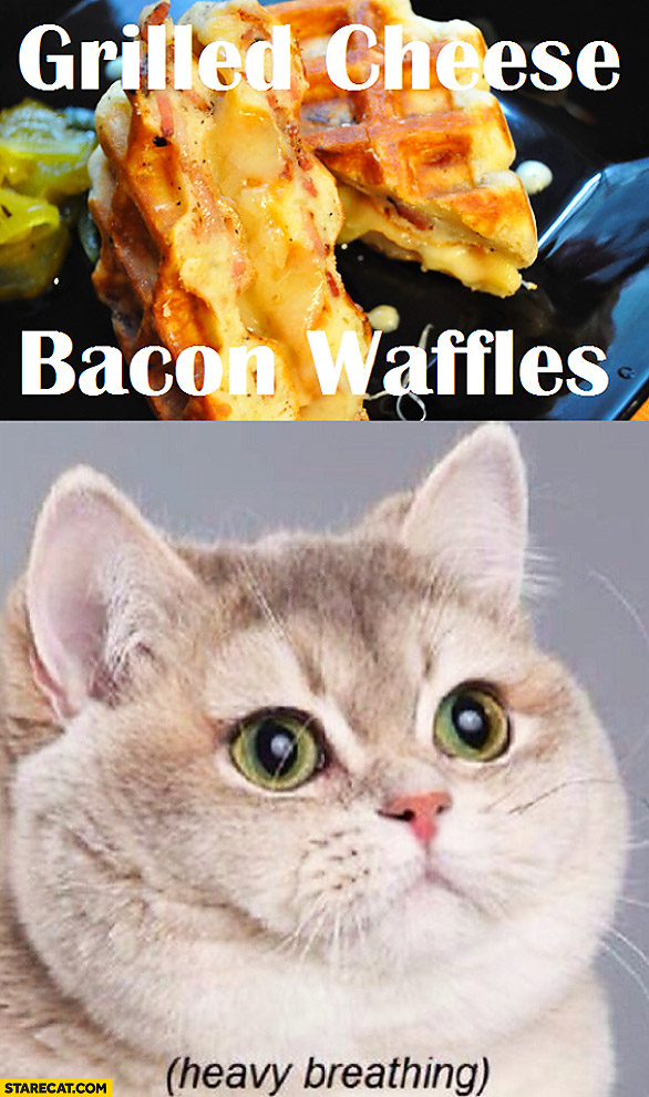 Grilled cheese bacon waffles heavy breathing