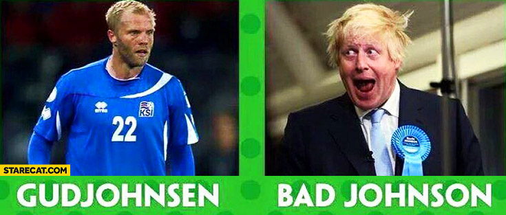 Gudjohnsen, bad Johnson Boris Iceland