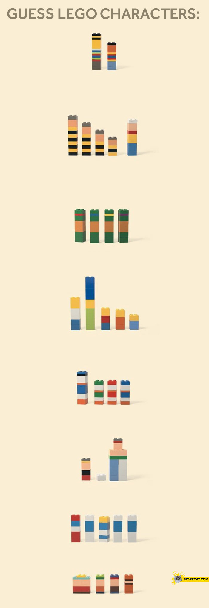 Guess LEGO characters