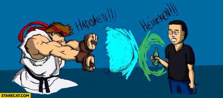 Hadouken Heineken Ryu Street Fighter