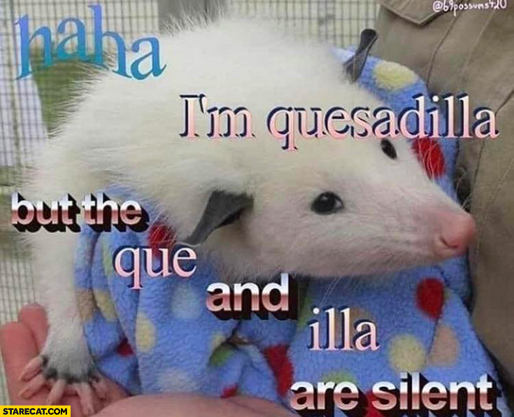 Haha I'm quesadilla but the que and illa are silent