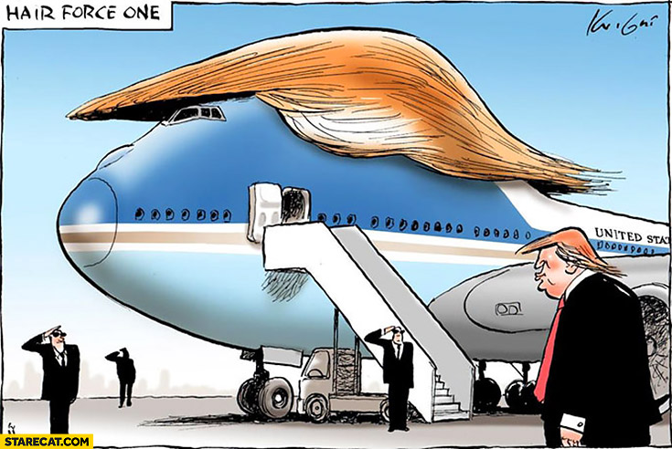 Hair force one Donald Trump Air Force One plane