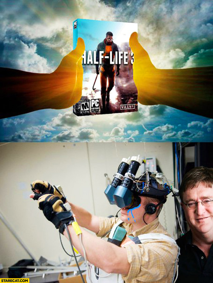 Half-life 3 box only in virtual reality