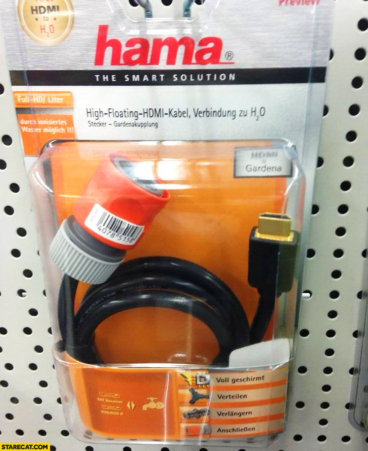 HAMA high floating HDMI to water cable