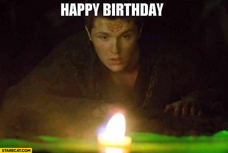 Happy birthday Game of Thrones meme