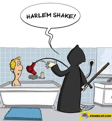 Harlem Shake death hair dryer