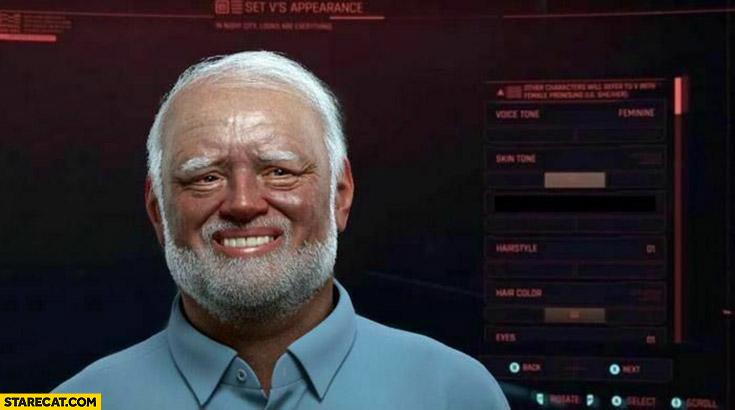 Harold Cyberpunk 2077 character customization