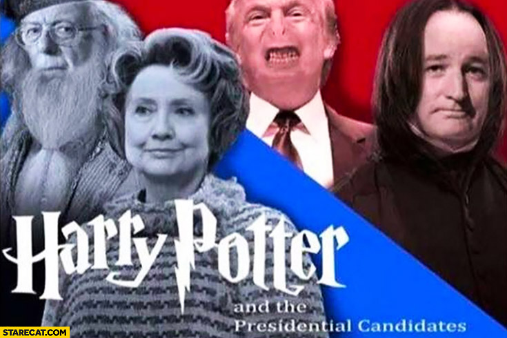Harry Potter and the presidential candidates Hillary Clinton Donald Trump
