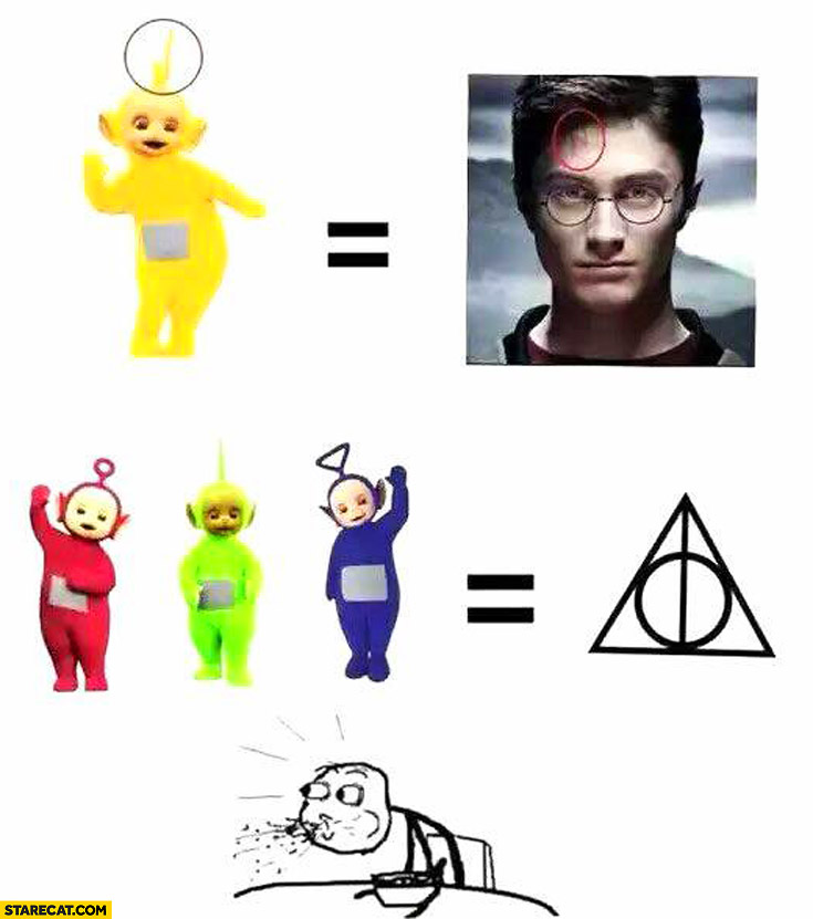 Harry Potter forehead sign Teletubbies