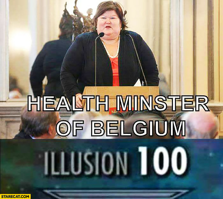 Health minister of Belgium fat obese woman illusion 100 ...