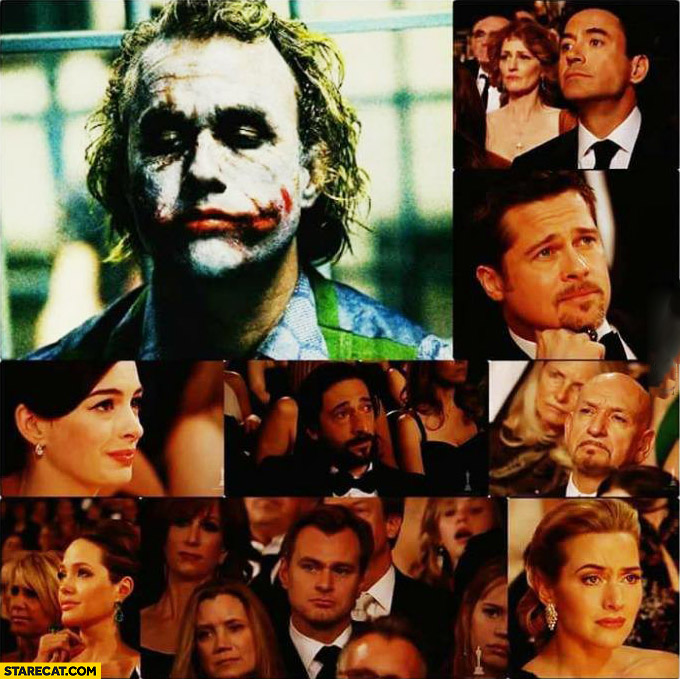 Heath Ledger Oscars actors sad faces