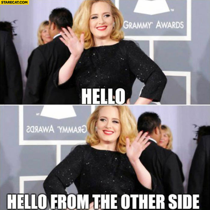 Hello from the other side adele mirror reflection image Adele