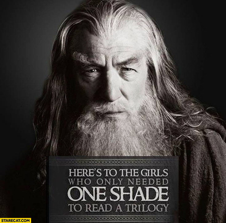 Here's to the girls who only needed one shade to read a trilogy