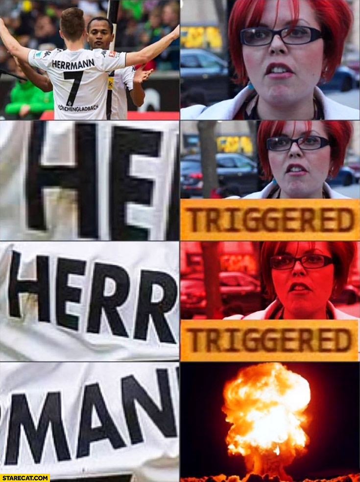 Herrmann football player feminist triggered
