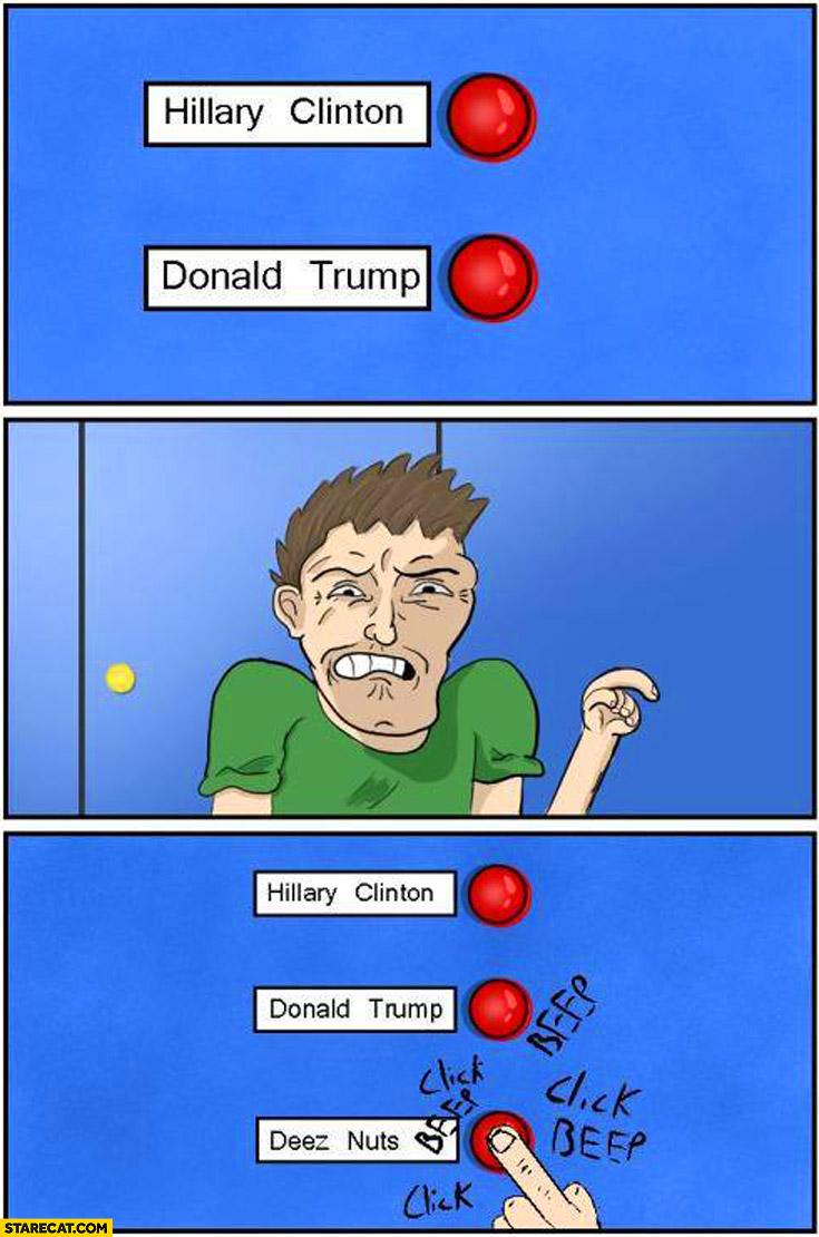 Hilary Clinton, Donald Trump , Deez nuts click