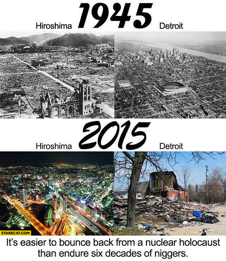 Hiroshima Detroit 1945-2015 comparison: it's easier to bounce back from a nuclear holocaust than endure six decades of ngrs