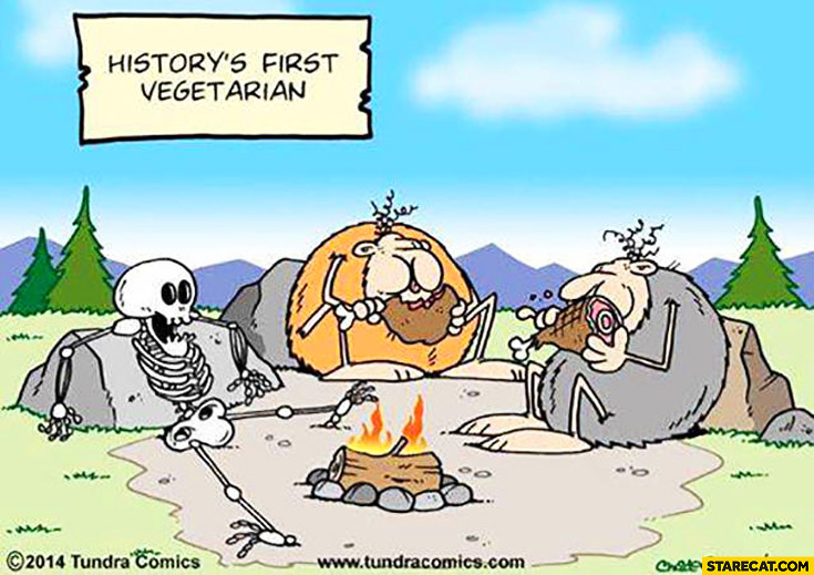 History's first vegetarian skeleton fail