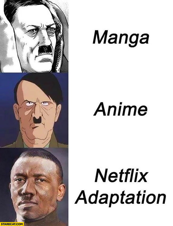 Hitler manga, anime, Netflix adaptation comparison