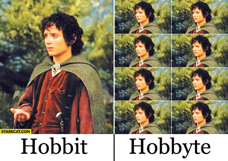 Hobbit hobbyte word play