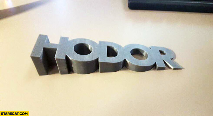 Hodor door holder word wooden Game of Thrones