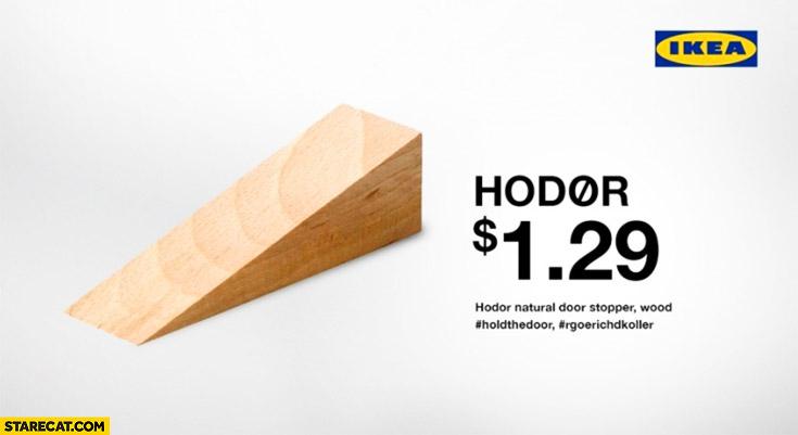 Hodor natural door stopper wood #holdthedoor #rgoerichdkoller Game of Thrones